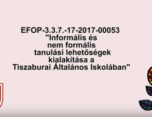 Kisfilmek az EFOP-3.3.7-17-2017-00053 projektünkről
