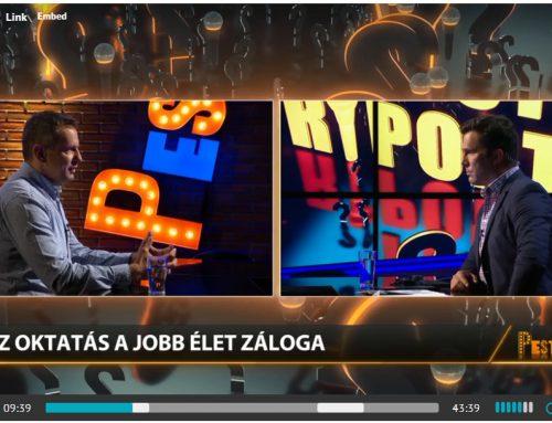 Fontos kérdések munkánkról, céljainkról a PestiTV-ben